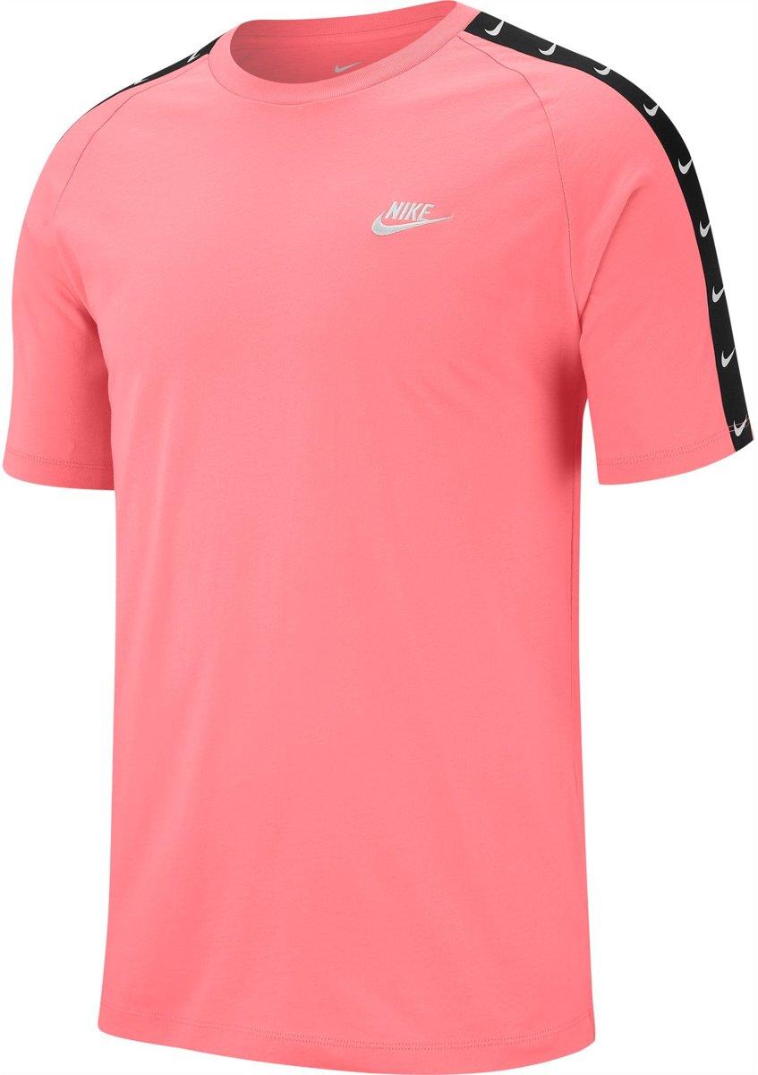 Nike Nsw Hbr Swoosh 2 Heren T shirt Pi Gaze(White) Maat L