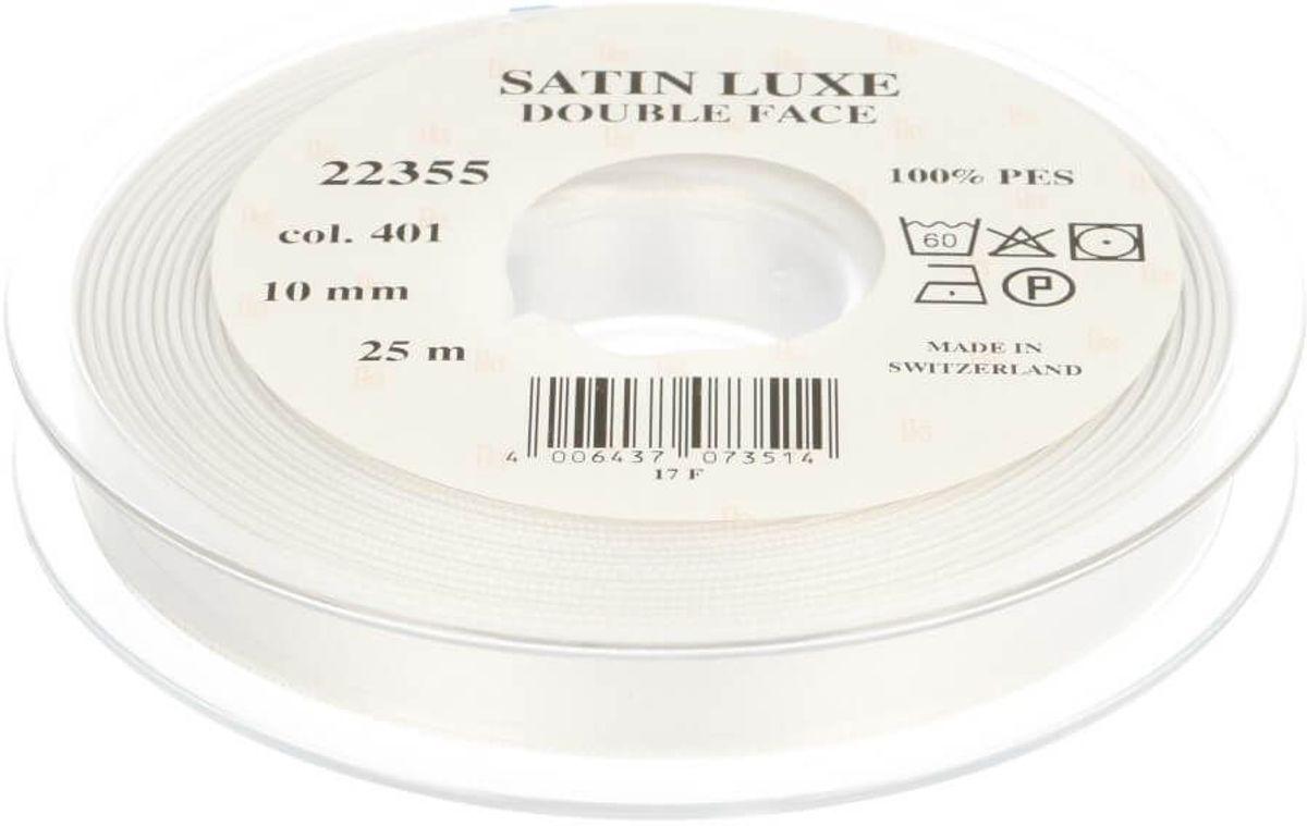 SATIN LUXE [ SATIJN LINT ] 10MM 25M - 0401 WIT kopen