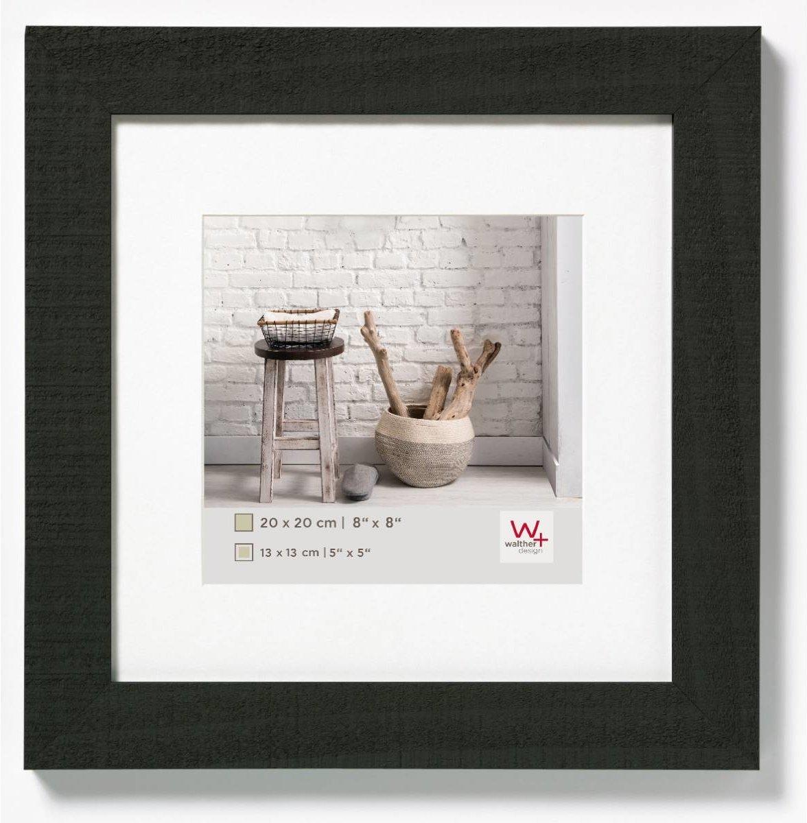 Bolcom Walther Home Fotolijst Fotoformaat 20x20 Cm Zwart