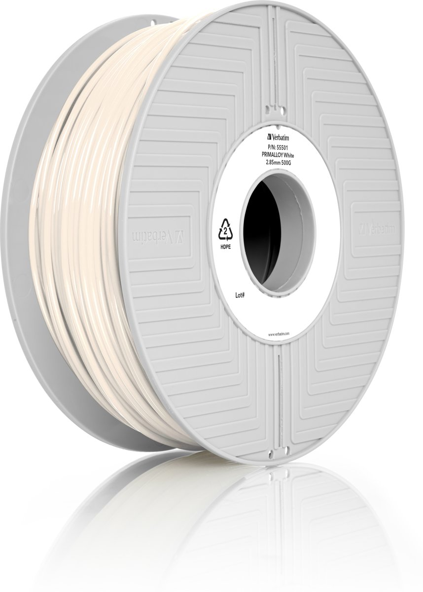 Verbatim 55501 3D Printer Filament PRIMALLOY 2.85mm 500g Wit