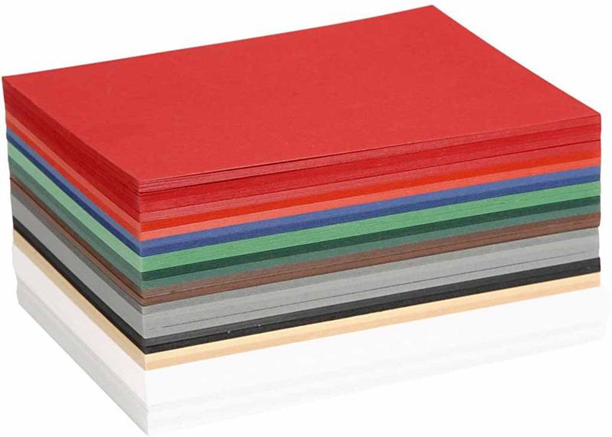 Kerst karton, A6 10,5x15 cm, kleuren assorti, 300 assorti vel kopen