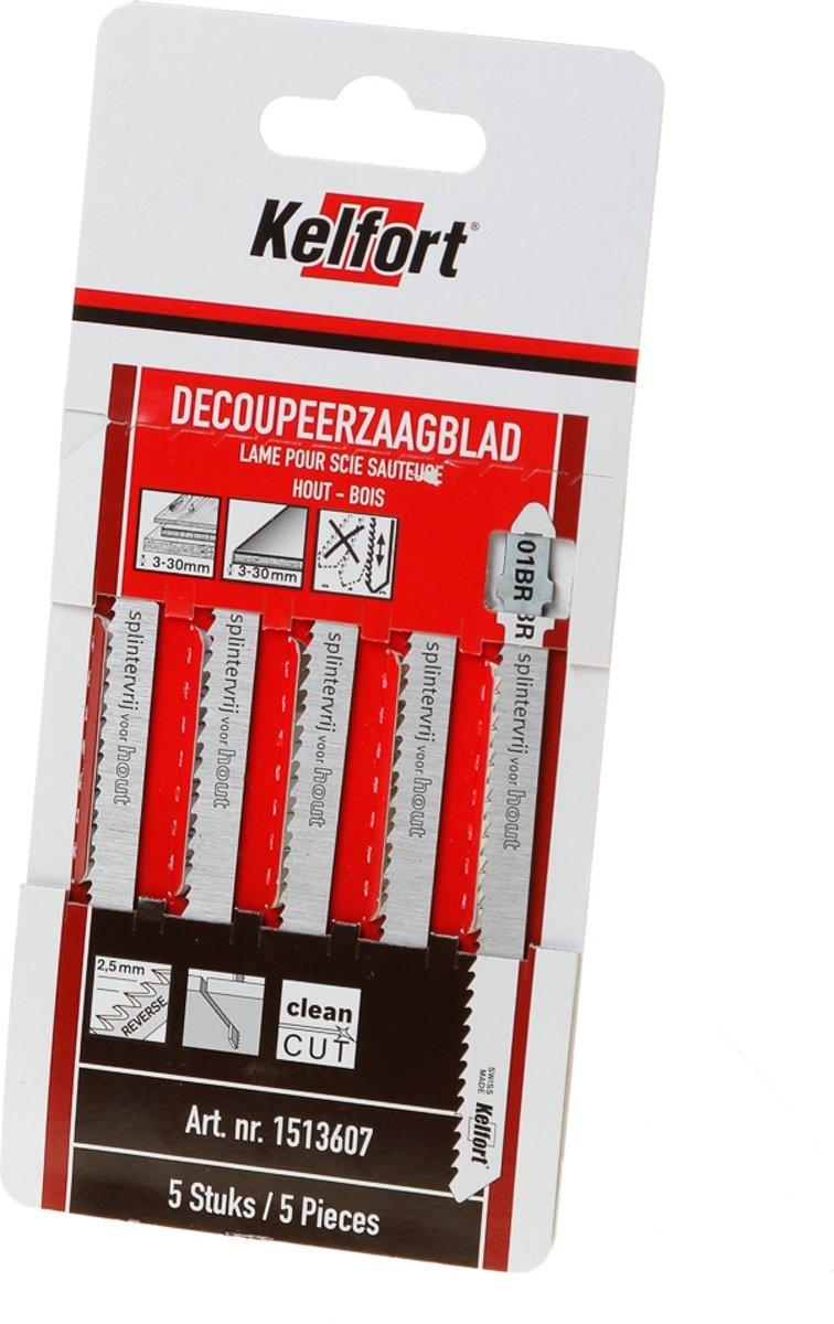 Kelfort Decoupeerzaagblad hout KT101BR blister van 5 zaagjes