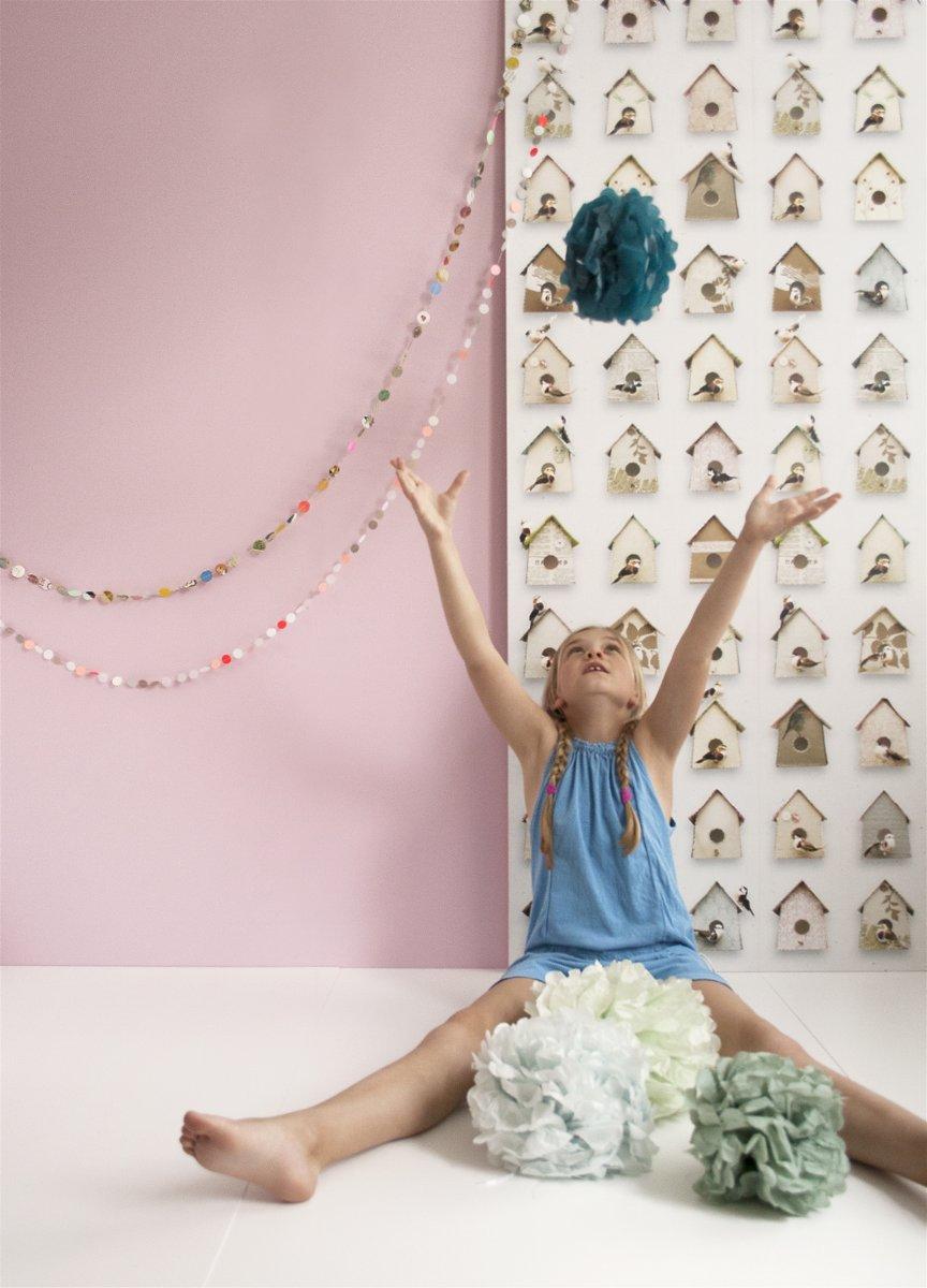 Kinderkamer Behang Vogelhuisjes : Bol.com studio ditte behang vogelhuisjes