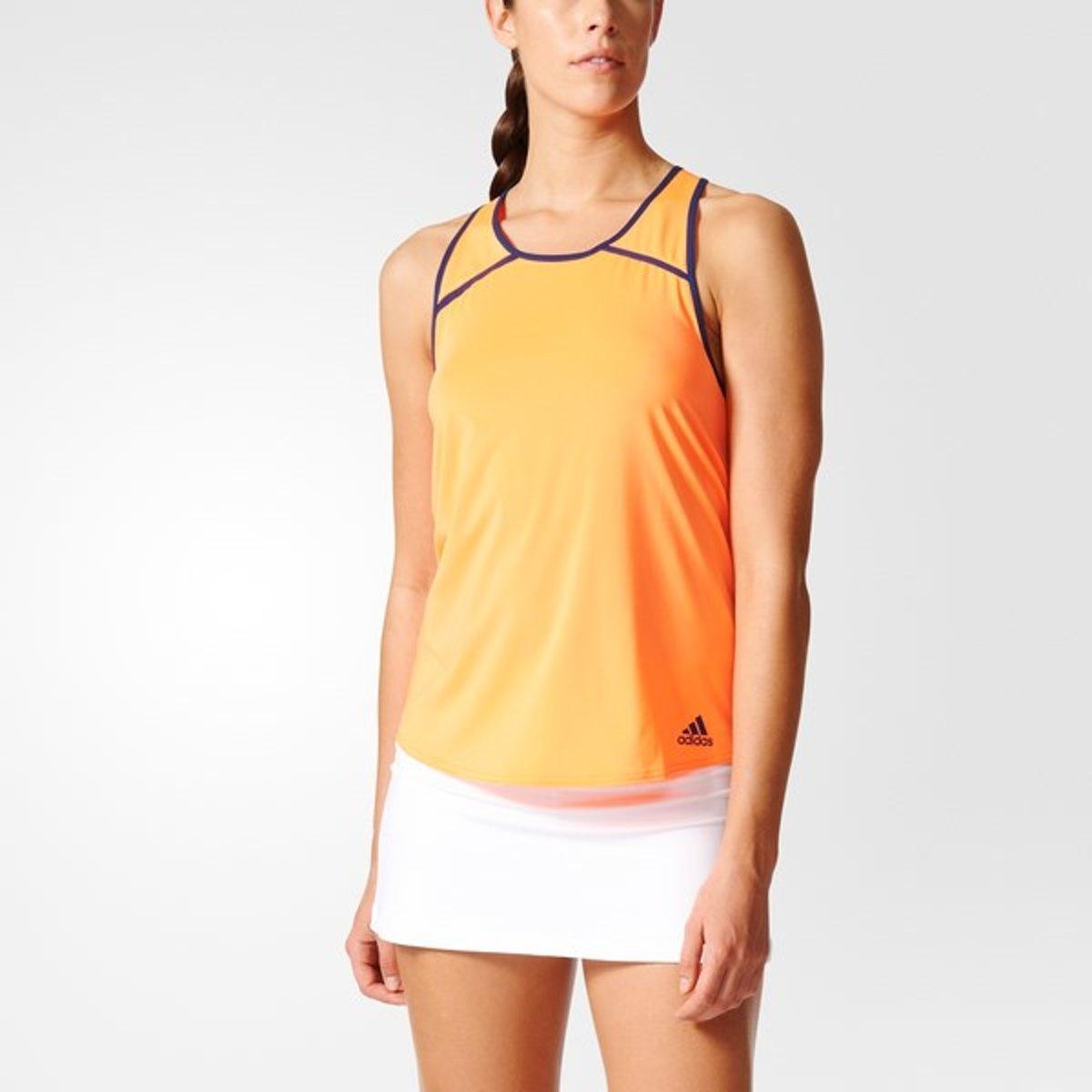 adidas Club Tank - Sportshirt - Dames - M - Glow Orange S14 thumbnail