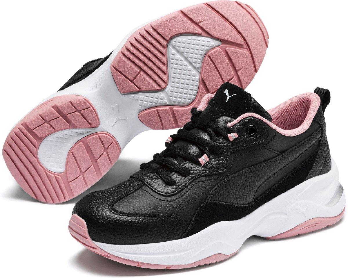 PUMA Cilia Lux Sneakers Dames Puma Black Bridal Rose Puma Silver Puma White Maat 38