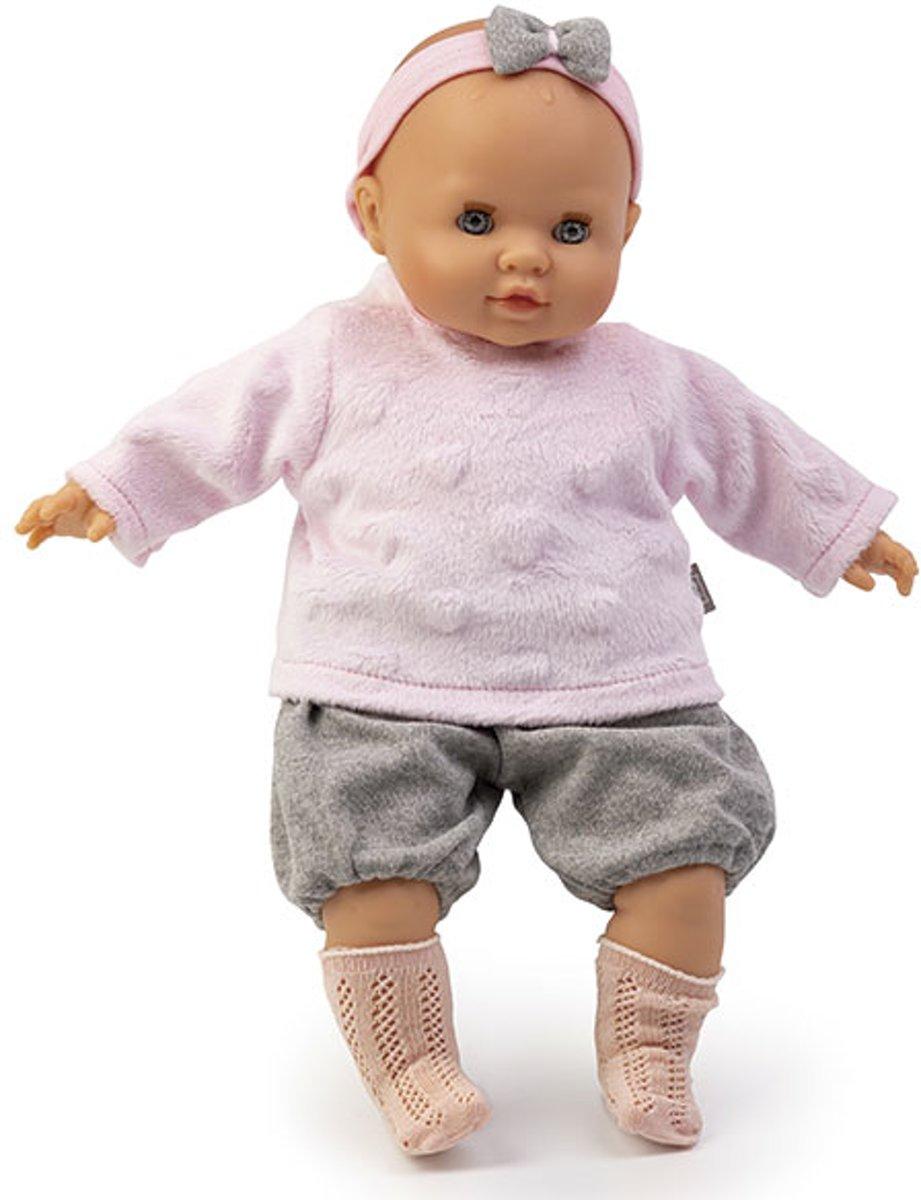 Pop-babypop met kleding-Baby Sara babbypop met de geur van vanille