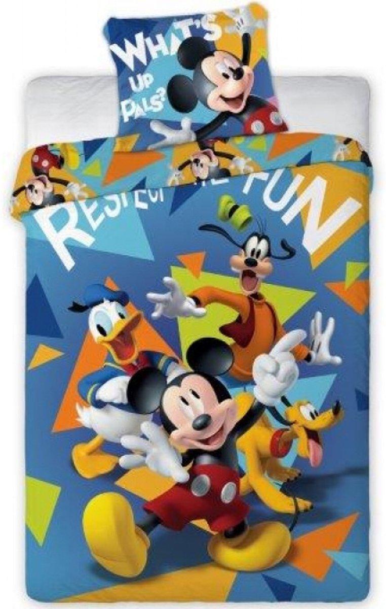 Disney Mickey Mouse - Dekbedovertrek - Eenpersoons - 140 x 200 cm - Multi kopen