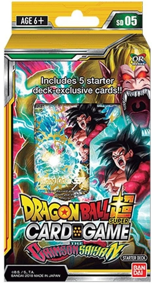 Dragon Ball Scg Crimson Saiyan Startersdeck Sd05 (en)