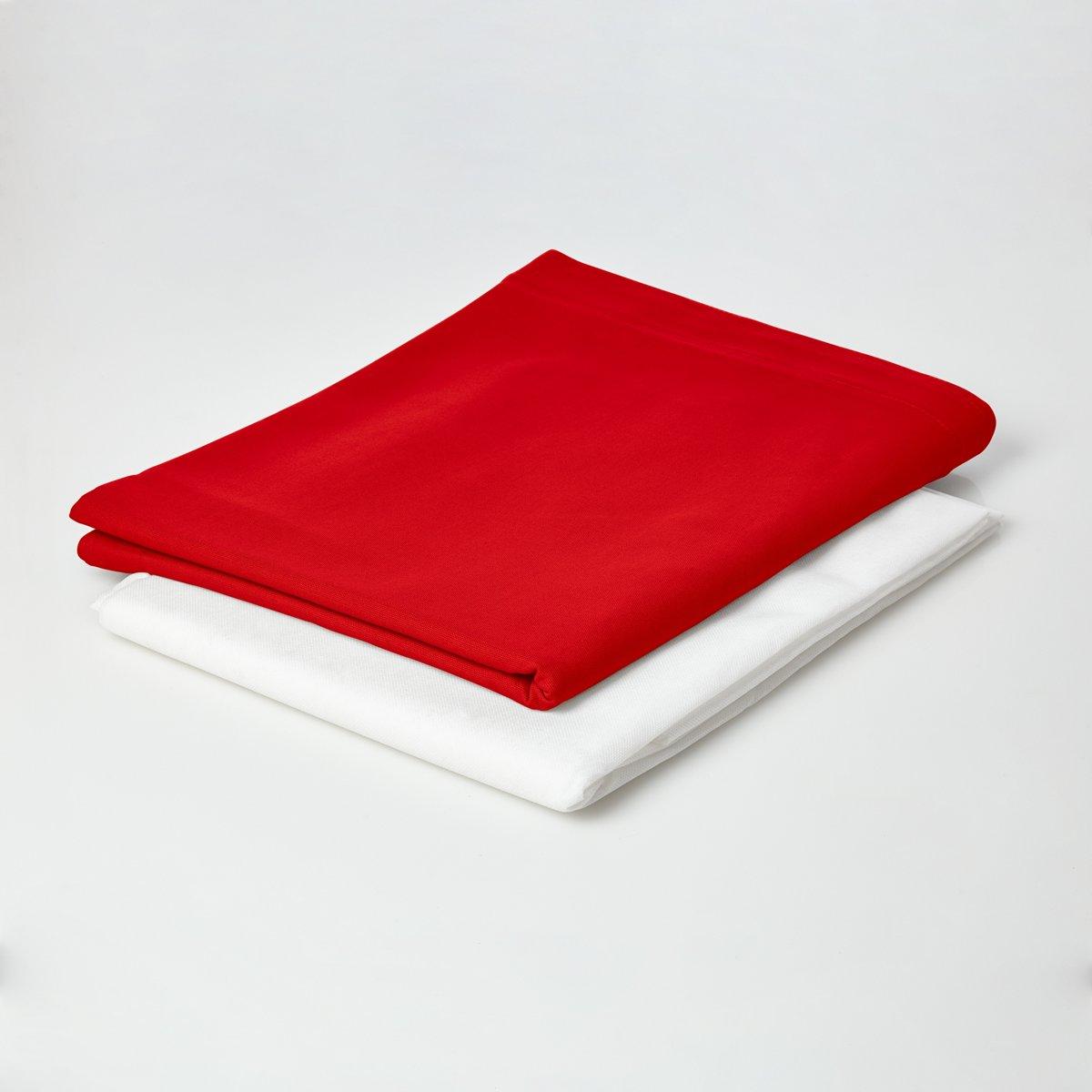 Lumaland - Hoes van luxe XXL zitzak - enkel de hoes zonder vulling - Volume 380 liter - 140 x 180 cm - gemaakt van 100% katoen - Rood kopen