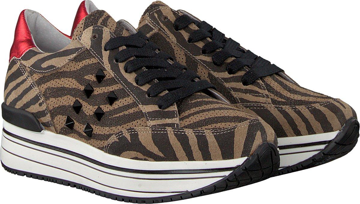 Omoda Dames Sneakers Leanstud Sneaker Beige Maat 38