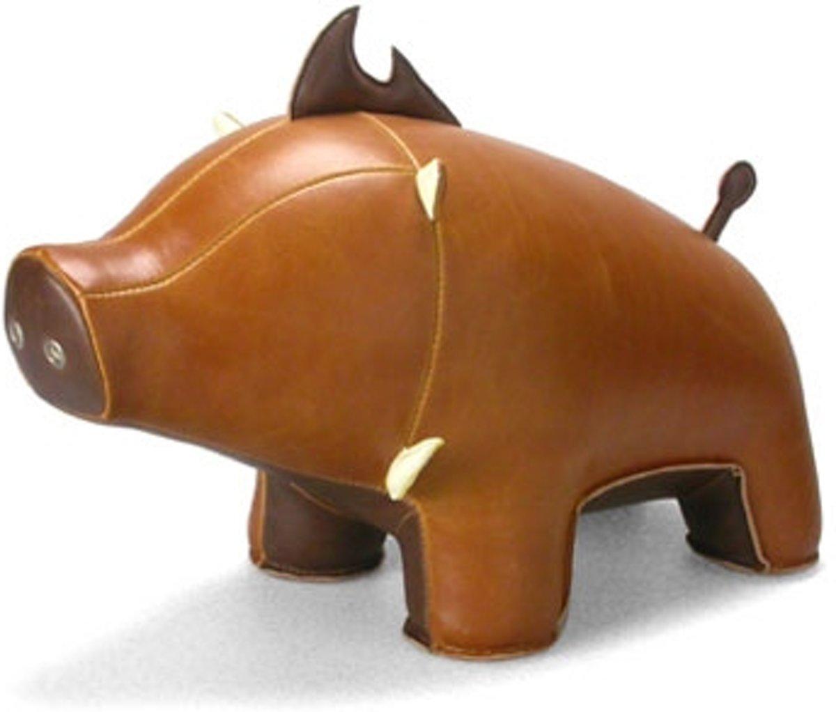 Zuny boekensteun everzwijn tan / brown kopen