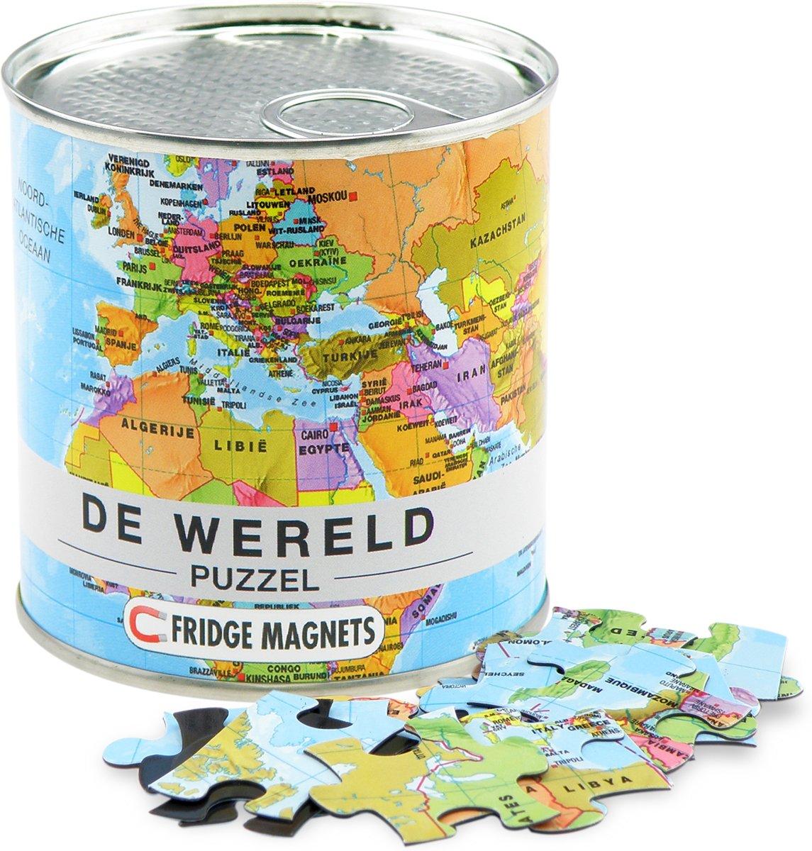 City Puzzle Wereld - Puzzel - Magnetisch - 100 puzzelstukjes