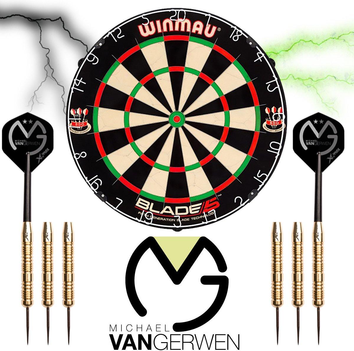 Winmau set - Blade 5 - dartbord - plus 2 sets - Michael van Gerwen dartpijlen - dartpijlen kopen