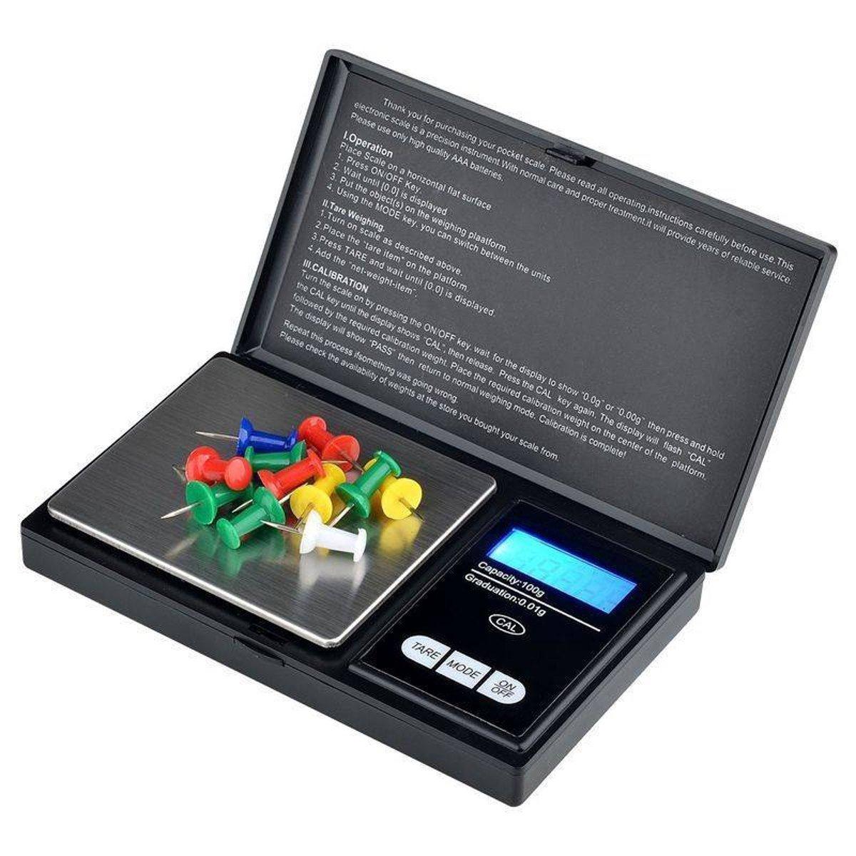 Digitale Precisie Weegschaal 0.01 tot 200 Gram Nauwkeurig