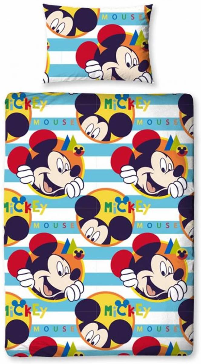 4 delig dekbedset Mickey in junior maat 120 x 150 cm, dekbed, kussen, dekbedovertrek en kussensloop kopen