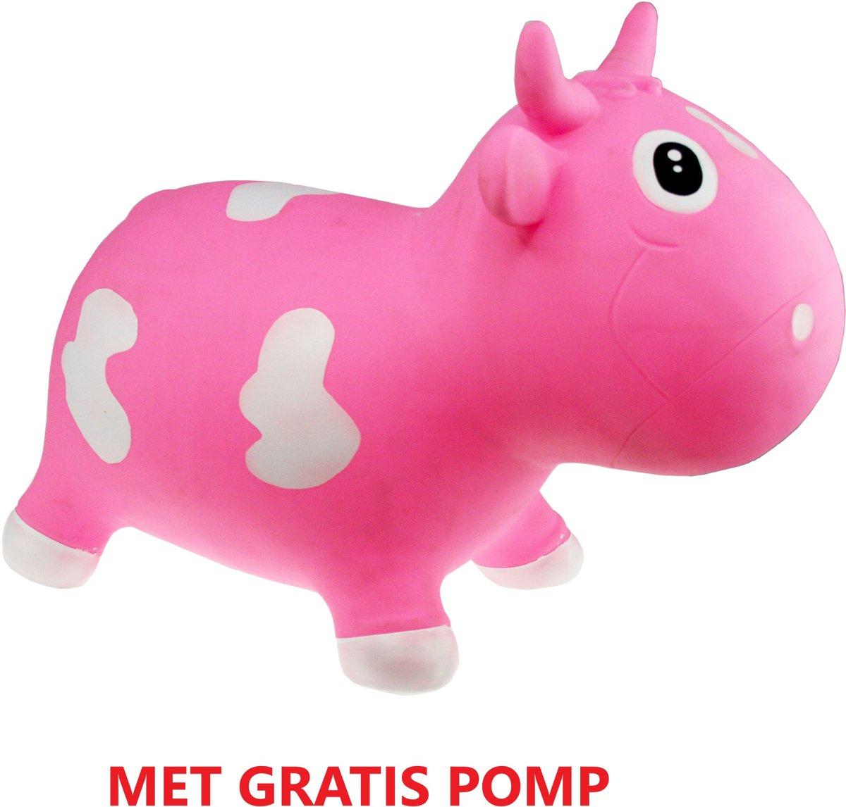 Kidzz Farm - Skippydier - Koe - Roze - Inclusief pomp!