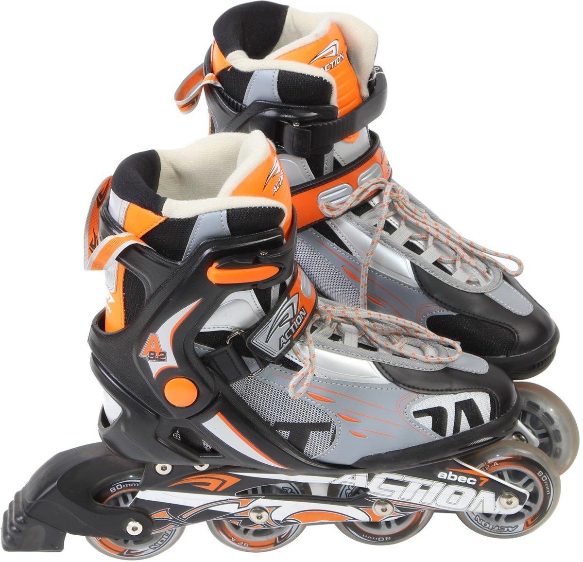 Laubr Speed Skates - maat 45 - ABEC 7 - oranje/zwart/grijs - alu frame kopen