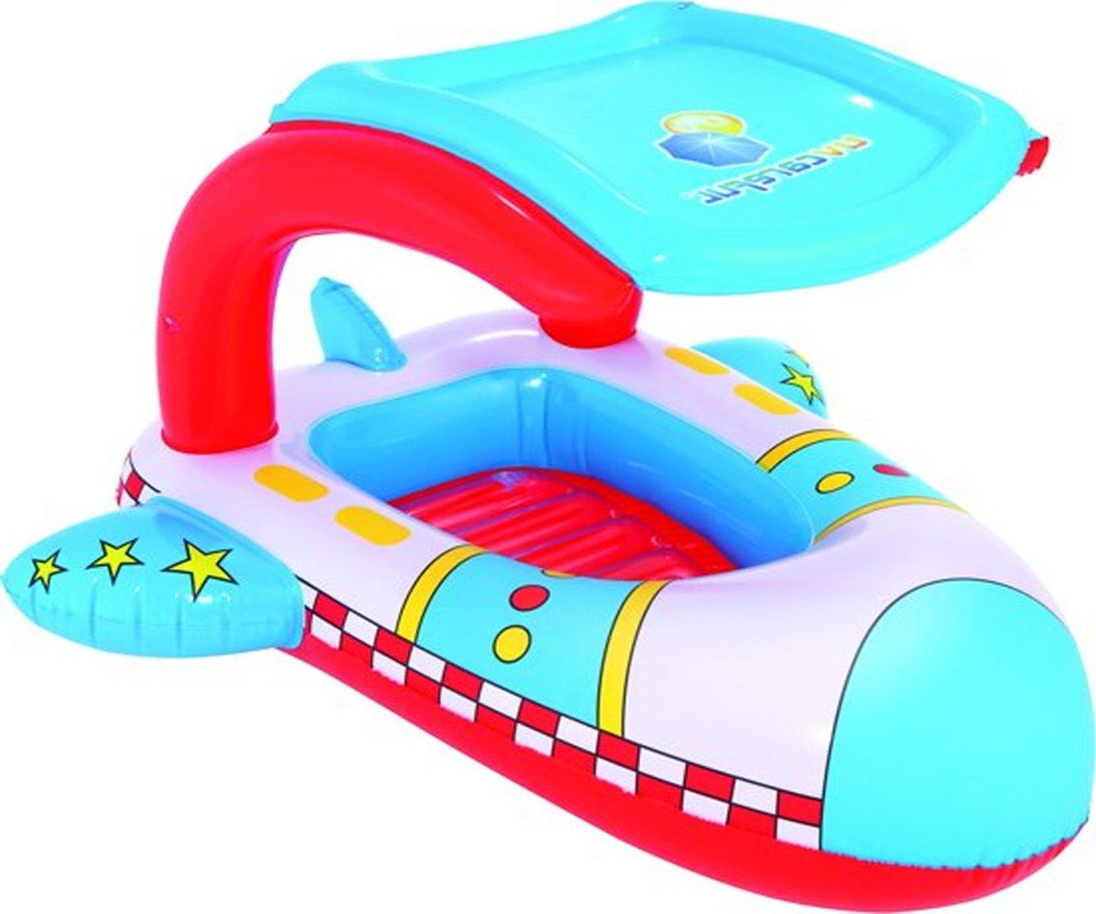 Opblaasbare boot met zonnescherm speciaal voor jouw peuter