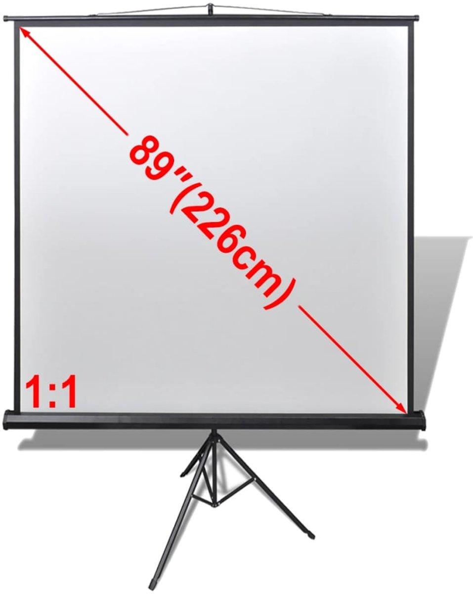 vidaXL Projectiescherm wit + statief 160 x 160 cm (1:1 formaat) kopen