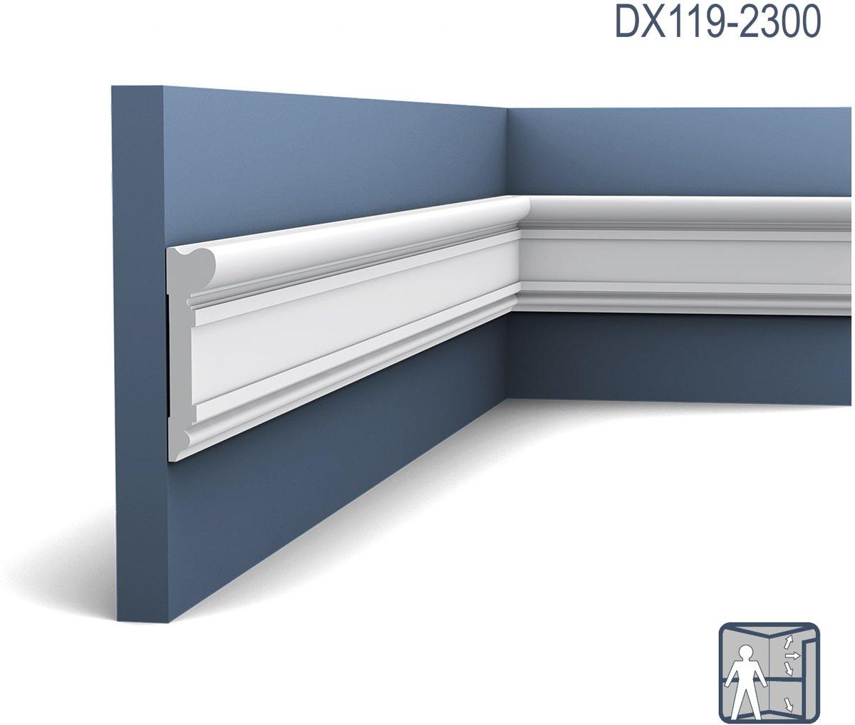 Deuromlijsting Origineel Orac Decor DX119-2300 LUXXUS Multifunctioneel stootvast sierprofiel wandlijst plint 2.3 m kopen