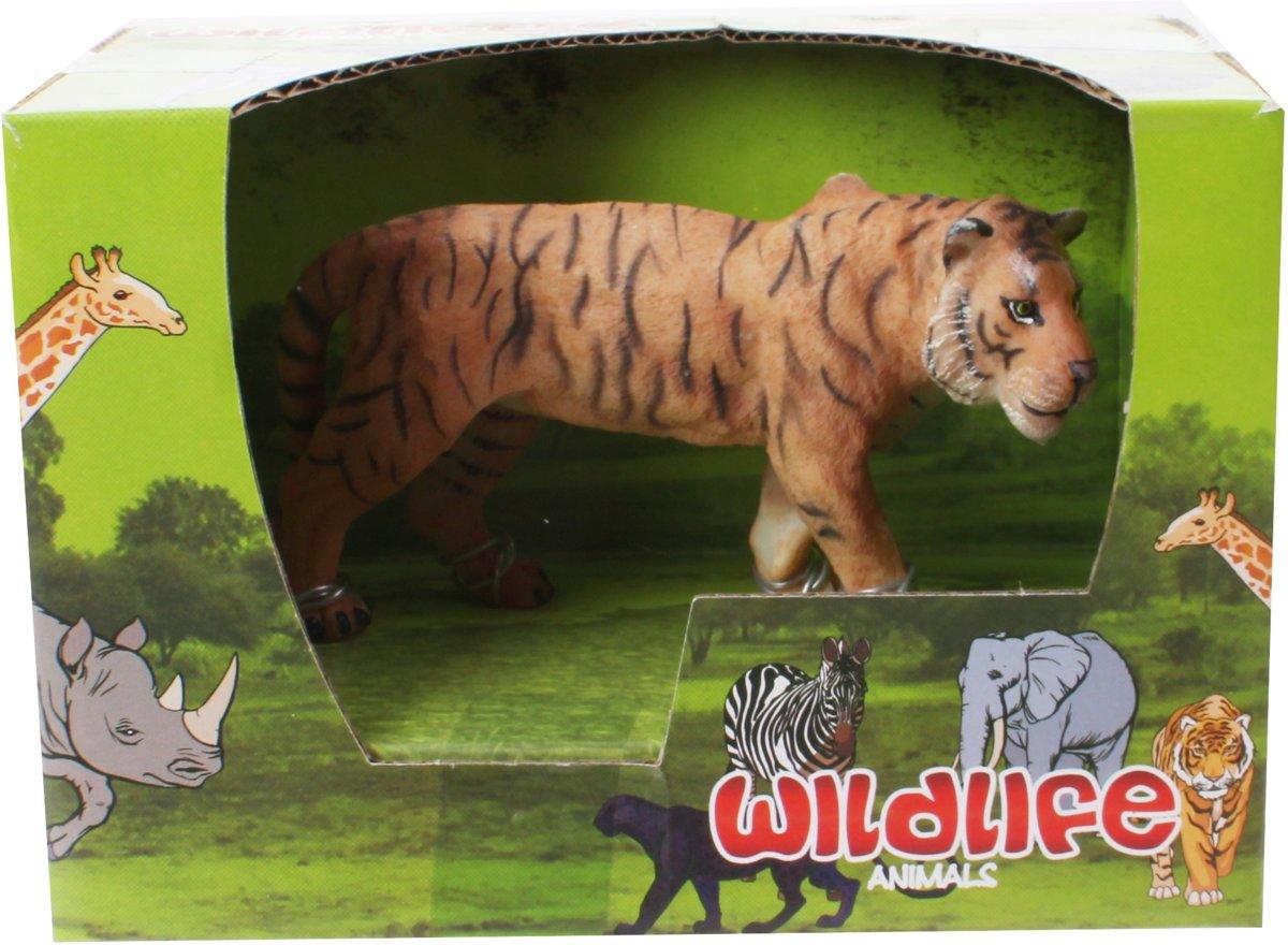 Free And Easy Wildlife Animals Tijger 13 Cm Bruin kopen