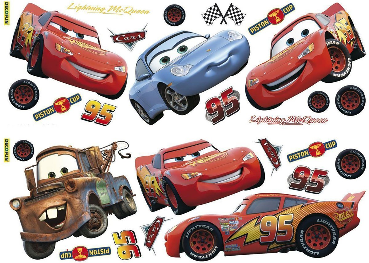 Disney Cars - Muurstickers - 70x25 cm