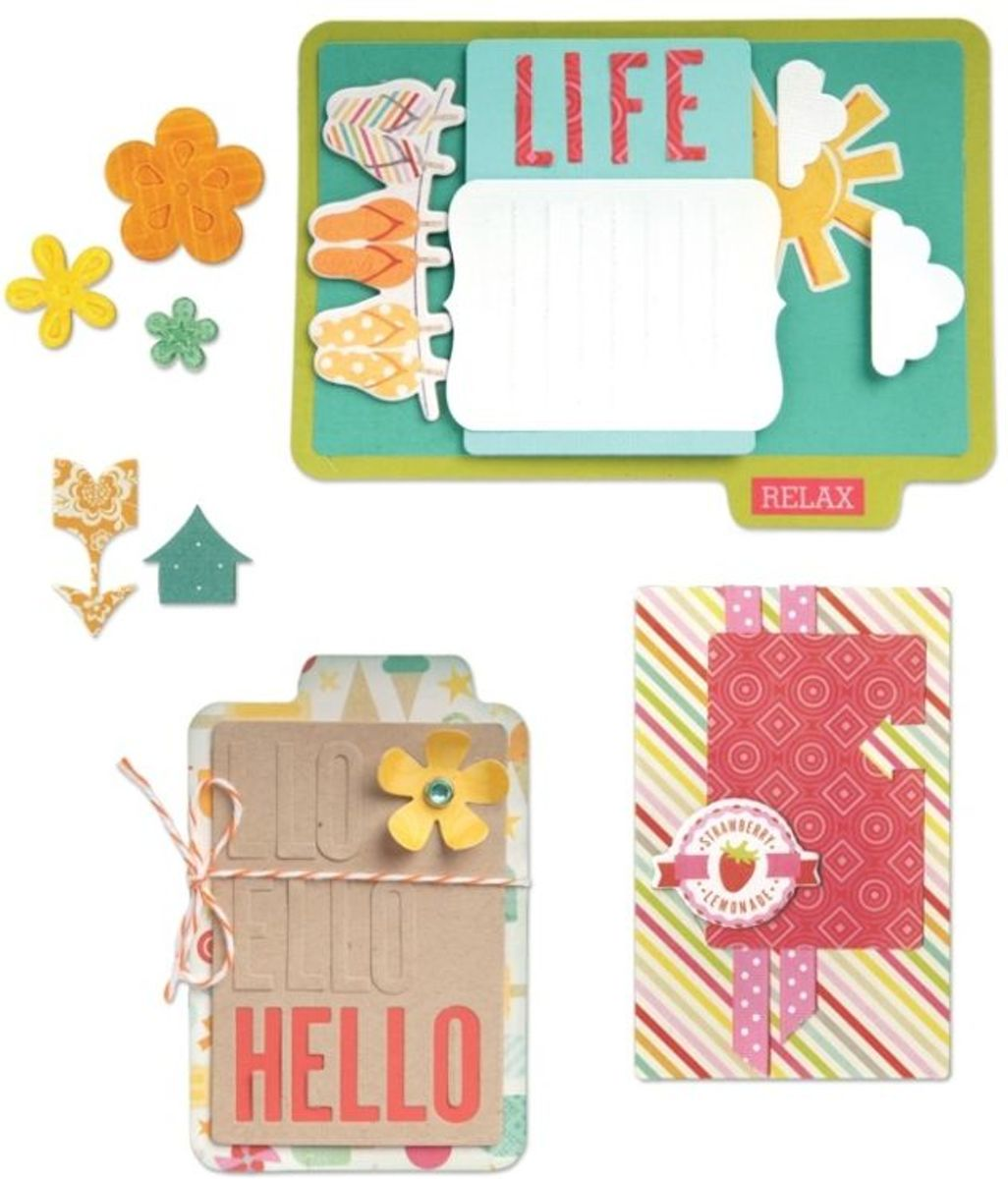 Sizzix Thinlits 14 pcs Hello Life by Lori Whitlock kopen