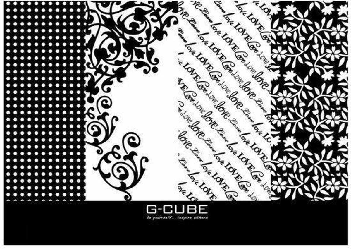 Black & White, Bar Style, Trim to Fit Notebook Skin 17