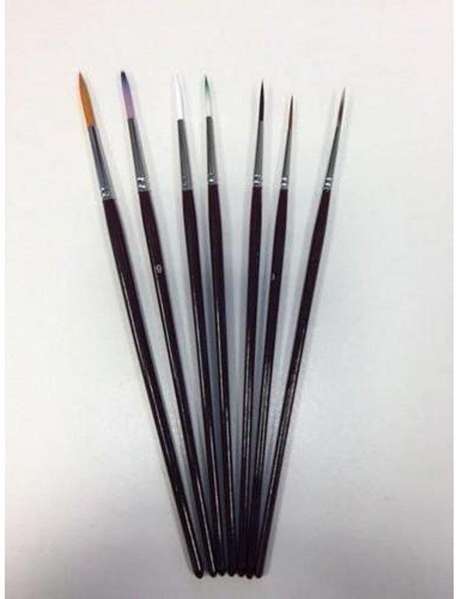 Penselenset nylon (7x liner) 7 Stuks kopen