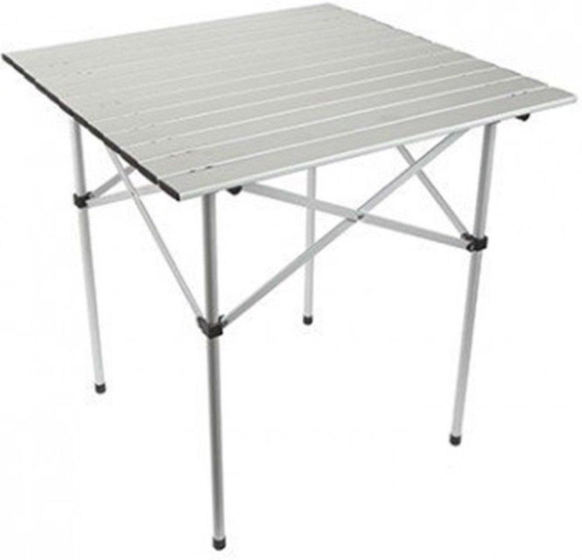 Summit Campingtafel Roll Top Aluminium 70 X 70 X 70 Cm Wit kopen