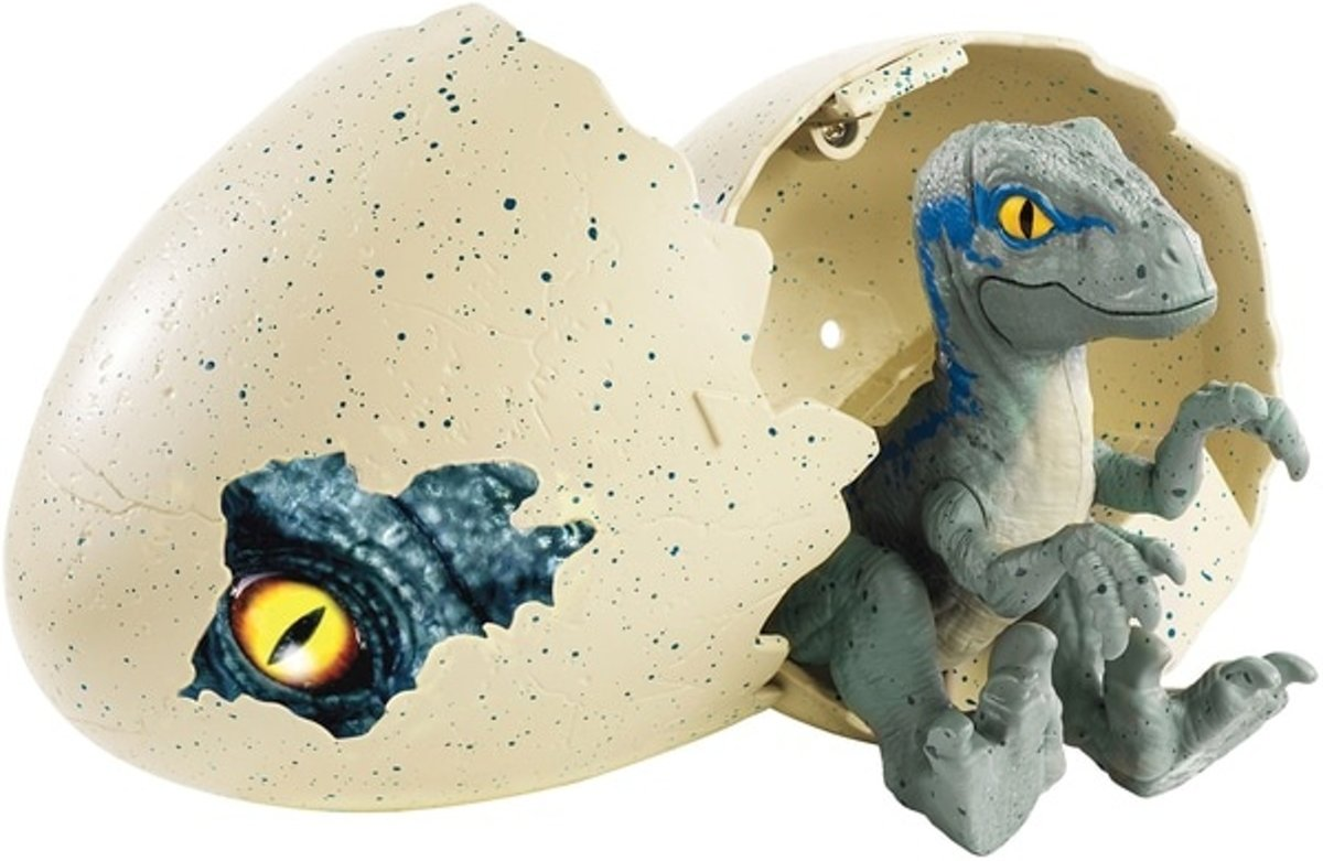 Jurassic World Hatchling Velociraptor Blauw/grijs kopen