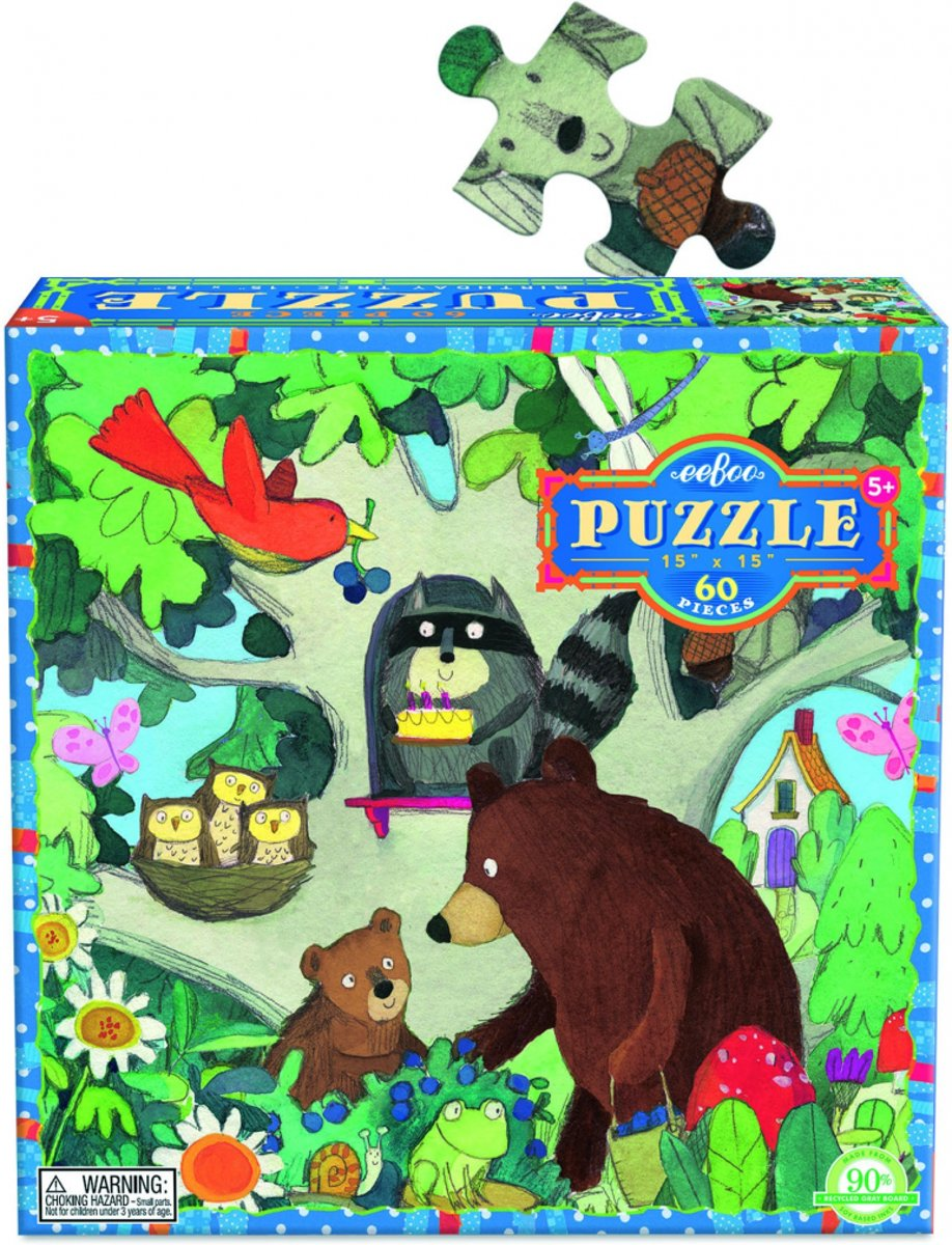 Eeboo Puzzel birthday tree 64 stukjes kopen