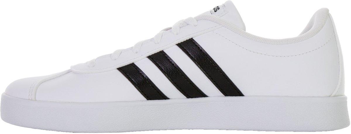 86d65cfb311 bol.com | adidas VL Court 2.0 K Sneakers - Maat 38 2/3 - Unisex - wit/zwart