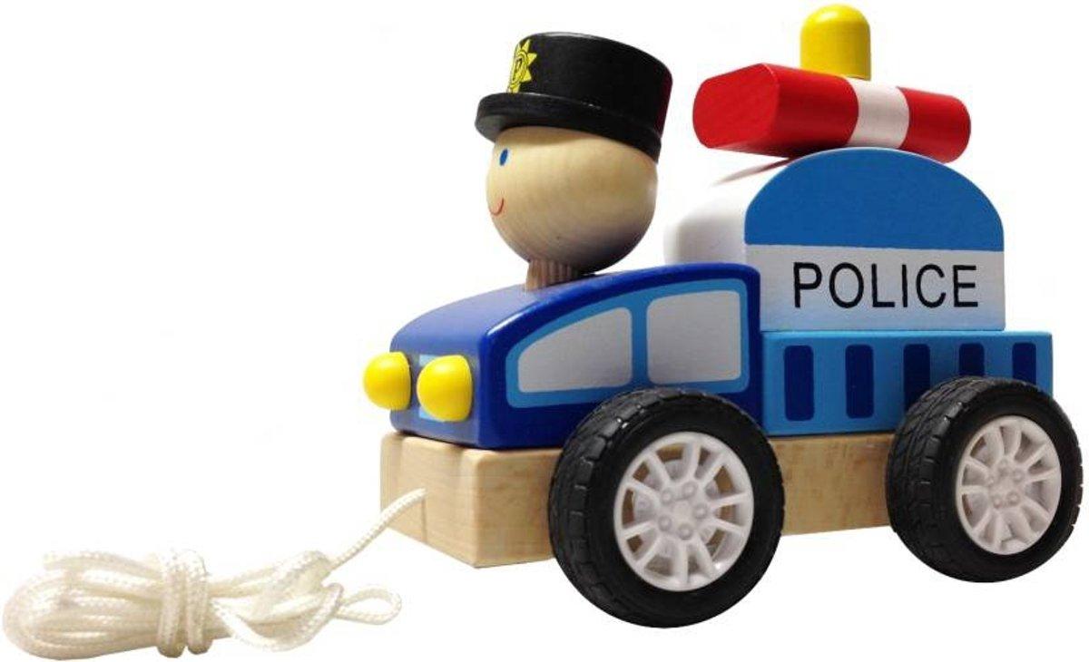 BuToys Houten Trekautootje - Politieman