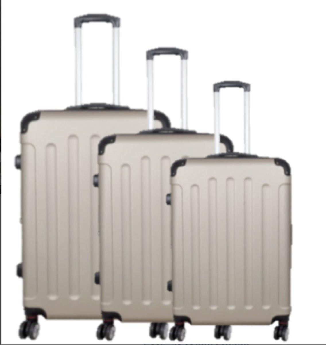 3 delig koffer set travelsuitcase Champagne kopen