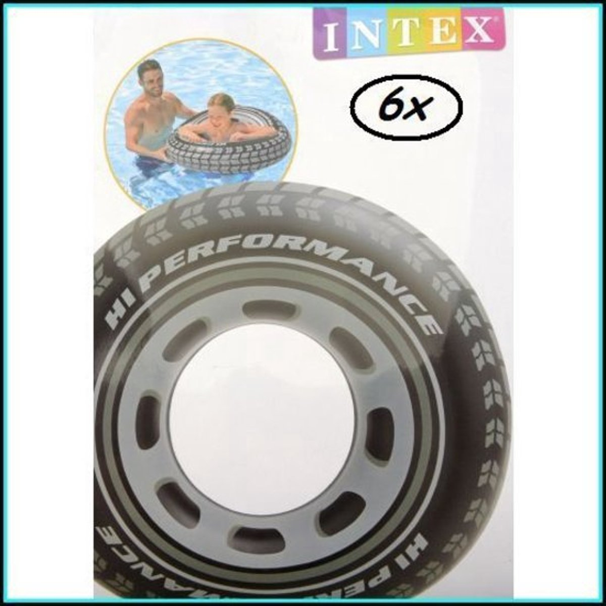 6x Intex Giant Autoband - Zwemband - 91 cm