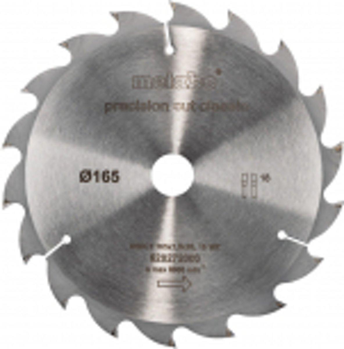 Cirkelzaagblad HW/CT 165x20, 18 WZ 20°, classic