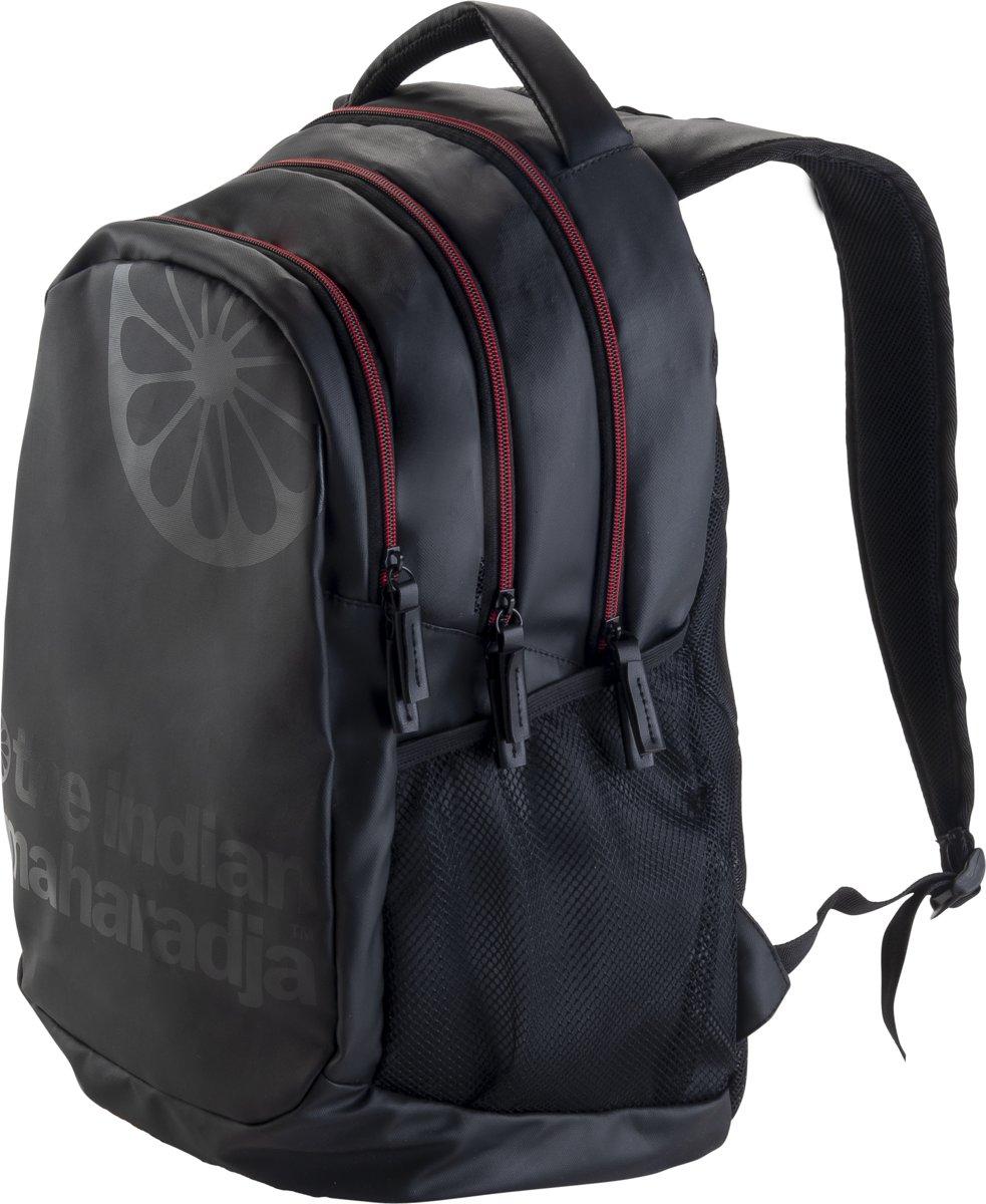 The Indian Maharadja Backpack-black/red- zwart-rood - Hockeystickrugzak Uni kopen