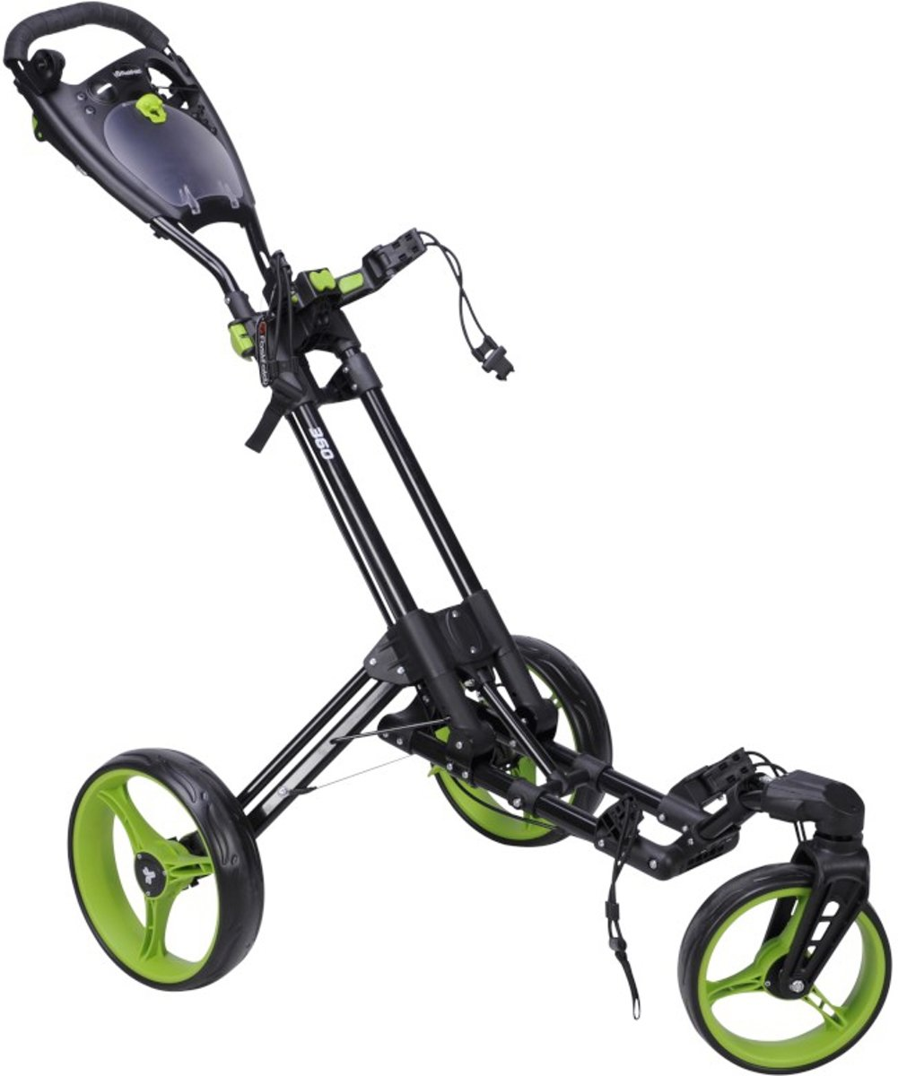 FastFold - 360 golftrolley - zwart/lime kopen