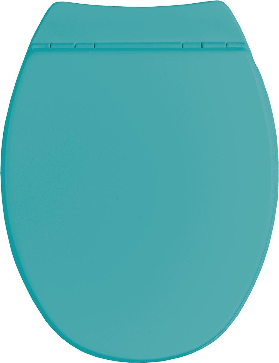 Allibert wc-bril SERENITY² - geperst hout - soft close - afklikbaar - antibacterieel - turquoise gelakt kopen