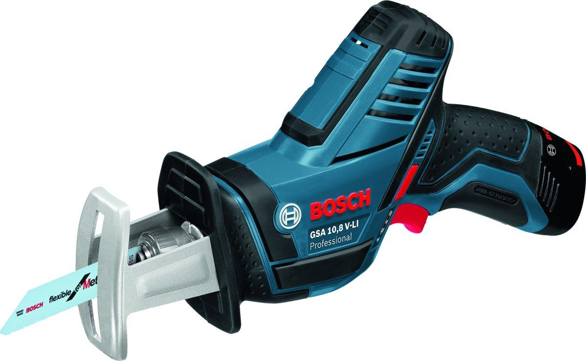 Bosch Professional GSA 10,8 V-LI Accu reciprozaag - 10.8 V - Met 2 x 2,5 Ah Li-Ion-accu's, snellader en L-BOXX