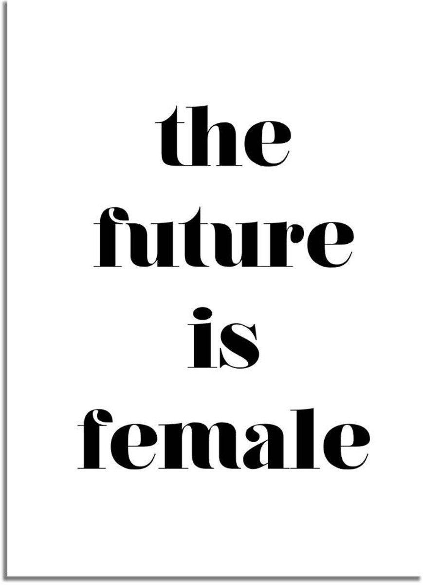 Tekst poster The future is female Designclaud - Zwart wit - A3 poster kopen