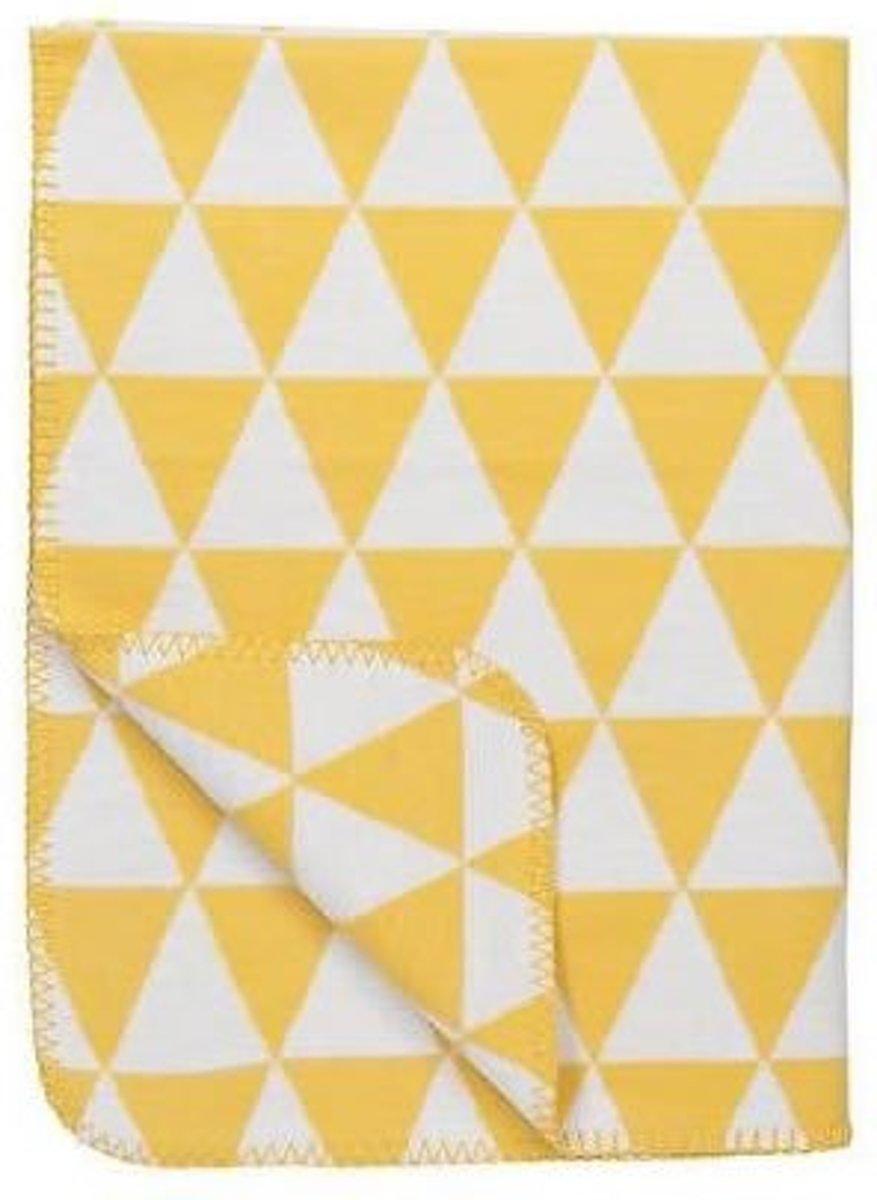 Meyco Triangle bio wiegdeken - 75 x 100 cm - geel