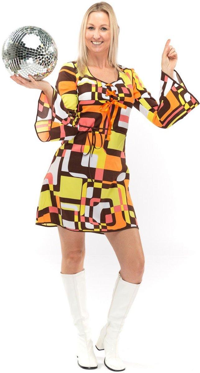 Afbeelding van product Original Replicas  Hippie Kostuum | Jaren 70 Hippie Soul Disco 60s Dolle Lijnen | Vrouw | Extra Small | Carnaval kostuum | Verkleedkleding  - maat XS
