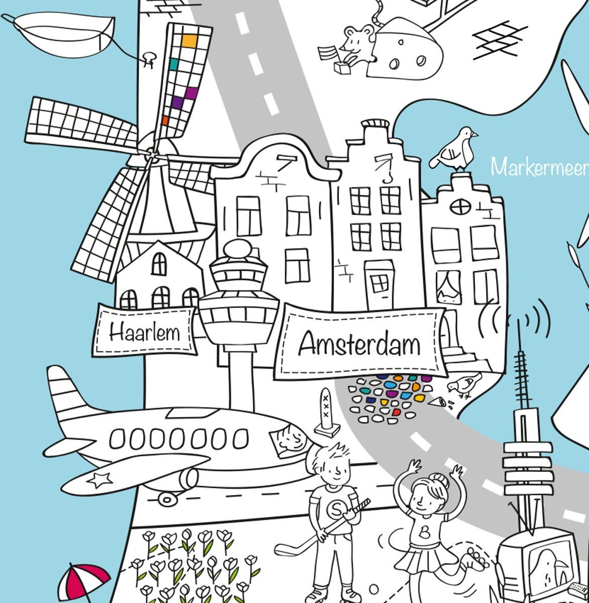 Kleurplaten Europa.Very Mappy Xxl Speel Kleurplaat Van Nederland