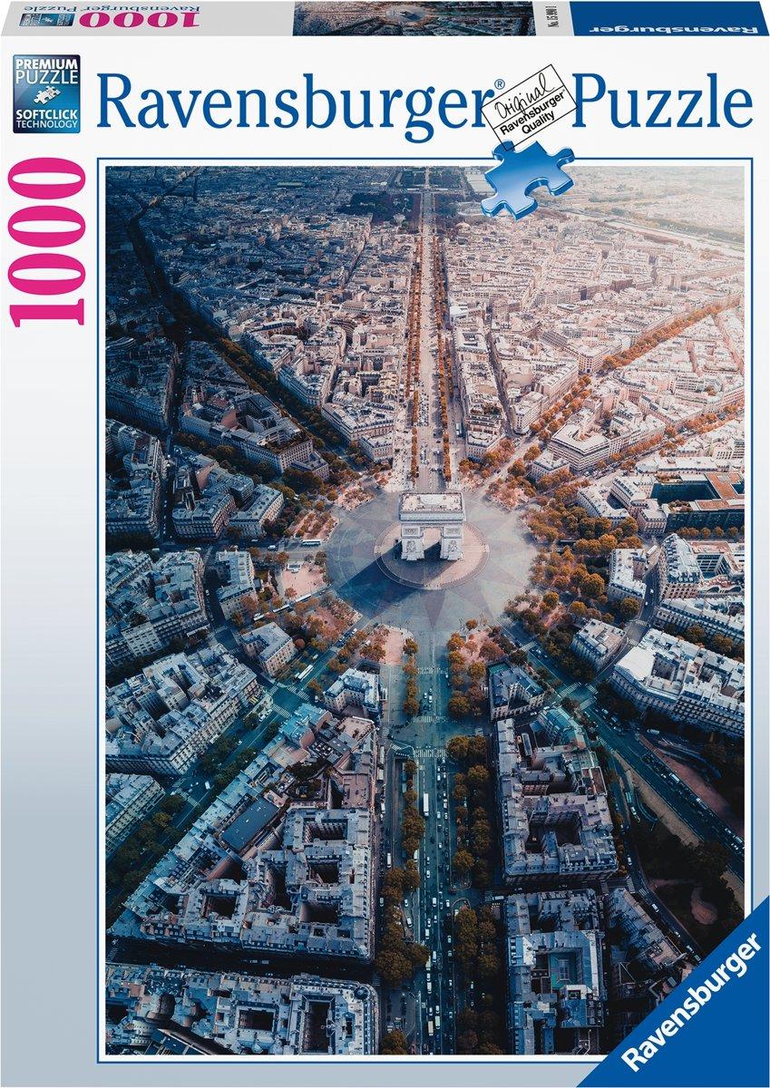 Afbeelding van product Ravensburger puzzel Parijs van bovenaf gezien - Legpuzzel - 1000 stukjes