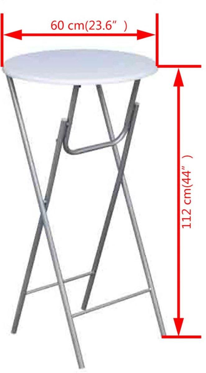 Statafel 60 Cm.Vidaxl Statafel Wit 60x60cm Set Van 4