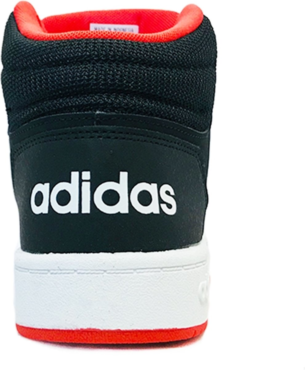 ad9d52f69d3 bol.com | adidas Hoops Mid 2.0 Sneakers - Maat 36 2/3 - Unisex -  zwart/wit/rood