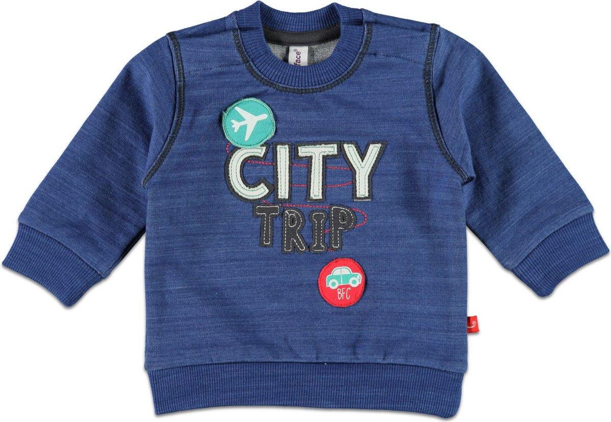 Babyface Jongenssweater - Denim Blue - Maat 50 / 56