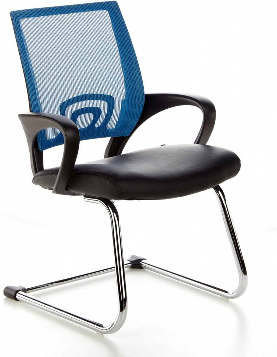 hjh office Visto Net V - Bureaustoel - Vergaderstoel - Netstof - Zwart / blauw kopen